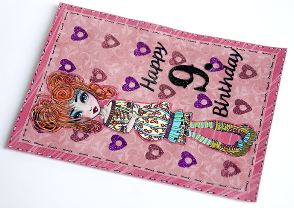 Sanna Lippert - Girly Birthday Card