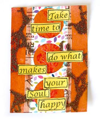 Sanna Lippert, stenciled artist trading card