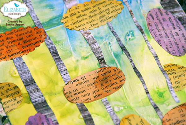 Sanna Lippert die cut detail art journal page