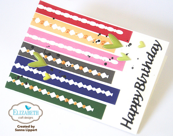 Sanna Lippert - die cut strip birthday card