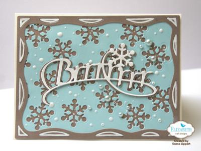 Sanna Lippert, Snowflake die cut cards