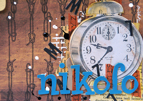 Sanna Lippert - Hybrid scrapbook page, Nikolo