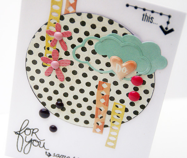 Sanna Lippert - clean and simple die cut card