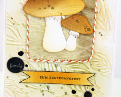 Sanna Lippert - thanksgiving die cut die card