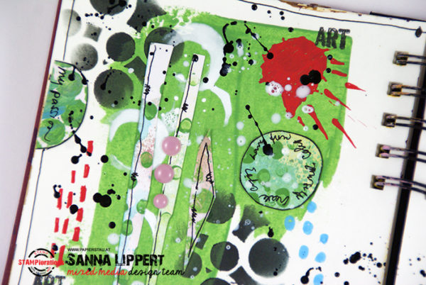 Abstract art journal spread - Sanna Lippert