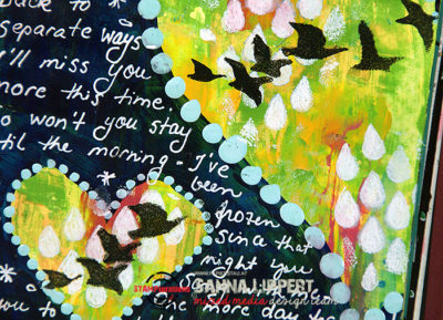 Sanna Lippert - song lyrics art journal page