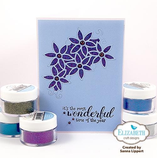 Sanna Lippert - Silk Microfine Glitter Christmas cards