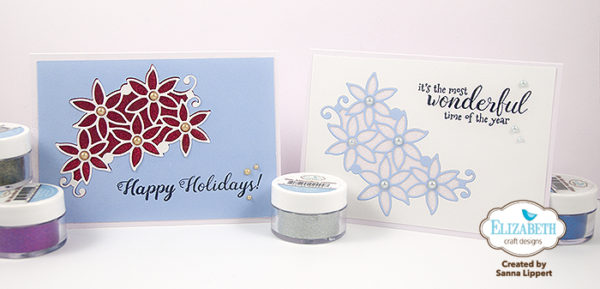 Sanna Lippert - Silk Microfine Glitter Christmas cards
