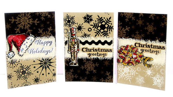 Embossed, stamped Xmas cards - Sanna Lippert