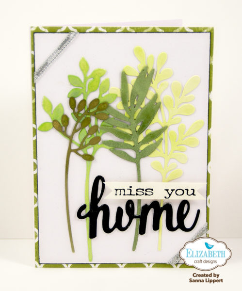 Sanna Lippert - miss you home die cut card